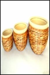 WEAVING CERAMIC POTS